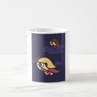 Supergirls Flying At Night Mug
