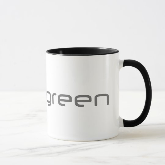 Supergreen - White and Black Ringer Mug