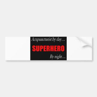 Superhero Acupuncturist Bumper Sticker