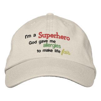 Superhero Allergies Hat Embroidered Hats