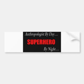 Superhero Anthropologist Bumper Sticker