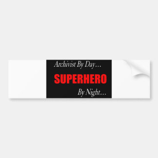 Superhero Archivist Bumper Sticker