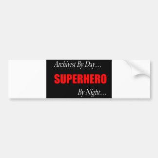 Superhero Archivist Bumper Sticker