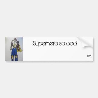 superhero art 1 bumper sticker