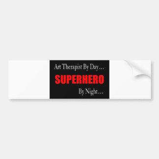 Superhero Art Therapist Bumper Sticker