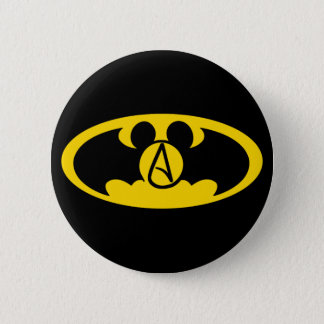 Superhero atheist button