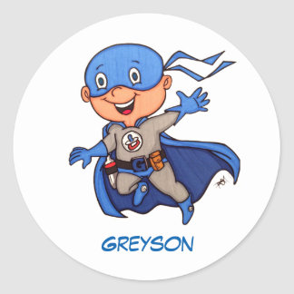 Superhero Baby Stickers