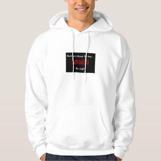 Superhero bari sax player sweatshirts