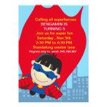 Superhero Birthday Invitation for the super boy
