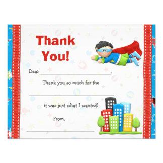 Superhero Birthday Party Thank You Invitations