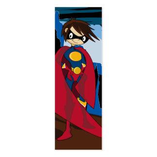 Superhero Bookmark Business Card