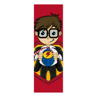 Superhero Boy Bookmark Business Card Templates