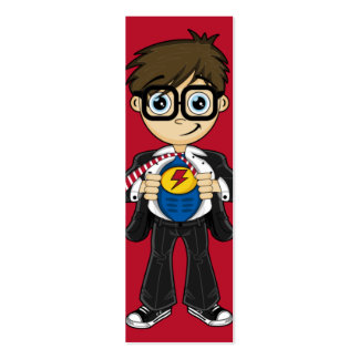 Superhero Boy Bookmark Pack Of Skinny Business Cards