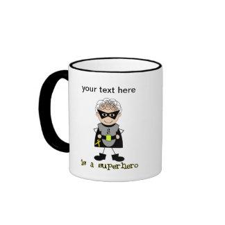 Superhero boy Childhood Cancer Awareness Coffee Mug