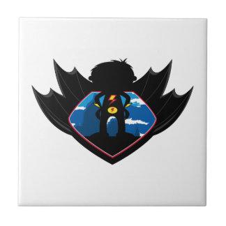 Superhero Boy in Winged Shield Tiles