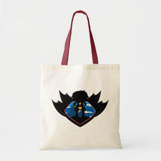 Superhero Boy in Winged Shield Tote Bag