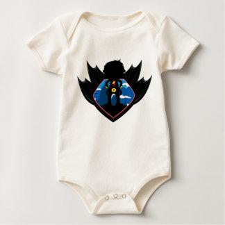 Superhero Boy in Winged Shield Baby Bodysuit