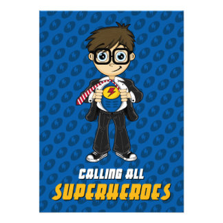 Superhero Boy Party Invite