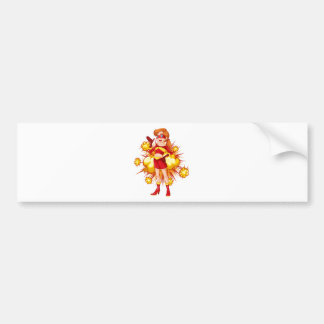 Superhero Bumper Sticker