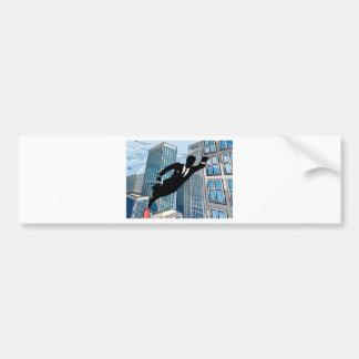 Superhero Businessman Bumper Sticker