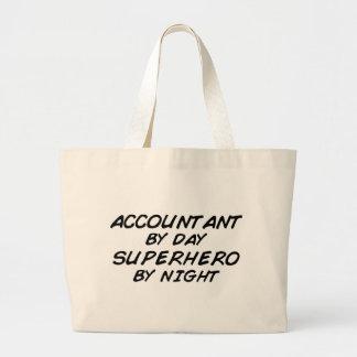 Superhero by Night - Accountant Large Tote Bag