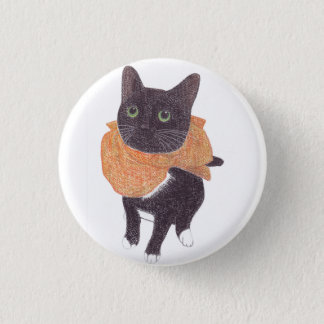 Superhero cat 3 cm round badge