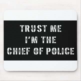 Superhero Chief of Police Mouse Mat