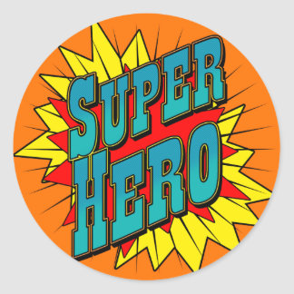 SuperHero Classic Round Sticker
