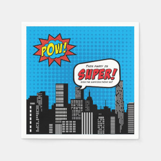 Superhero Cocktail Napkin humor Disposable Napkins