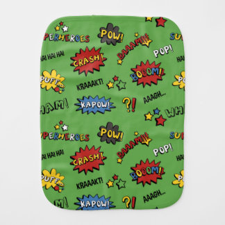 Superhero Colorful Fun Pattern Burp Cloth