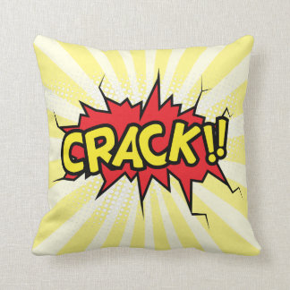 Superhero Comic Book Crack Cartoon Cushion