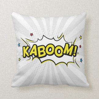 Superhero Comic Book Kaboom Cartoon Cushion