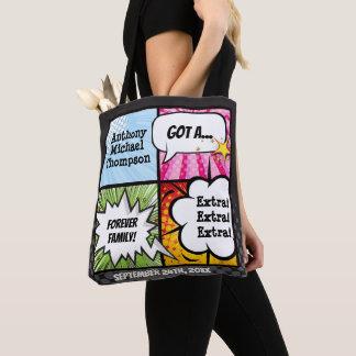 Superhero Comic Book Style Adoption Party Gift Tote Bag
