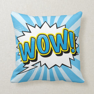 Superhero Comic Book Wow Cartoon Cushion