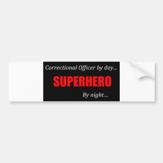 Superhero Correctional Officer Bumper Sticker