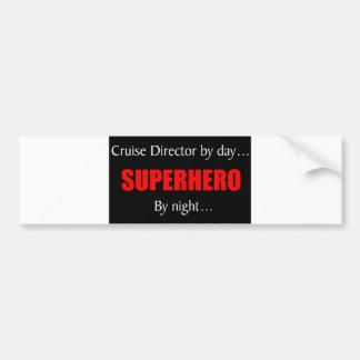 Superhero Cruise Director Bumper Sticker