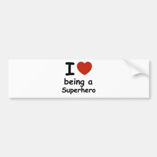 superhero design bumper sticker