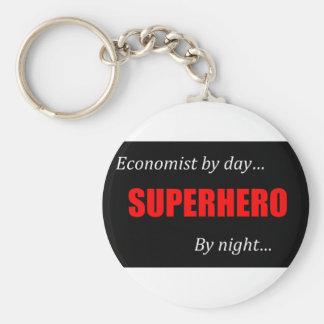 Superhero Economists Basic Round Button Key Ring