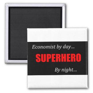 Superhero Economists Square Magnet
