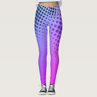 Superhero Halftone Comic Book Leggings PURPLE