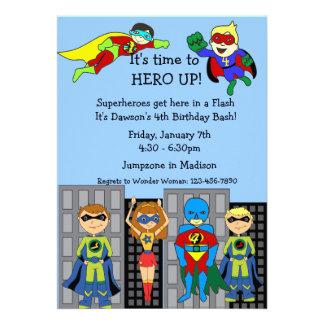 Superhero Hero Up Invitation