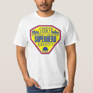 Superhero identity t-shirt