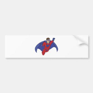 Superhero Illustration Bumper Stickers