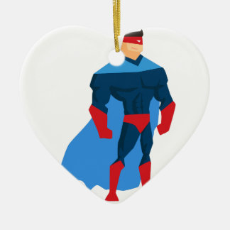 Superhero in Action Christmas Ornament
