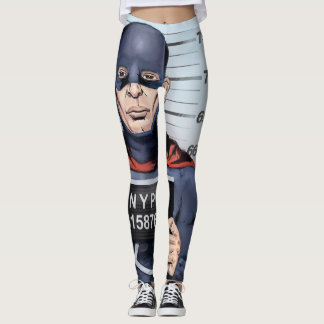 Superhero in trouble leggings