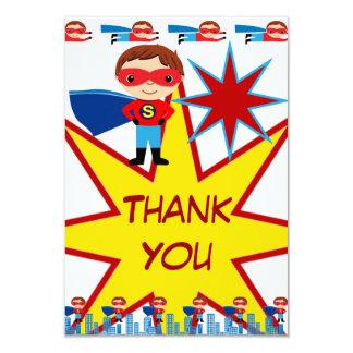 Superhero Kids Boys Birthday Party Thank You Cards 9 Cm X 13 Cm Invitation Card