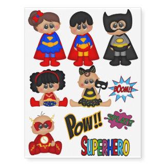 Superhero Kids tattoo red yellow black