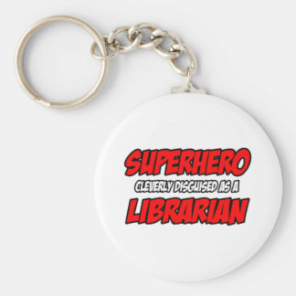 Superhero Librarian Keychains