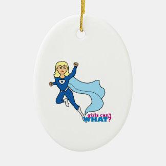 Superhero - Light/Blonde Christmas Ornament