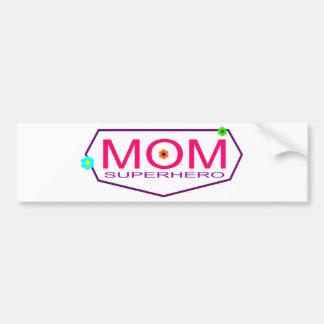 Superhero Mom Bumper Sticker